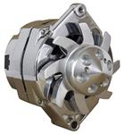 CHROME 125 AMP HIGH OUTPUT 1-WIRE ALTERNATOR FOR GM APPLICATIONS 1964-1987